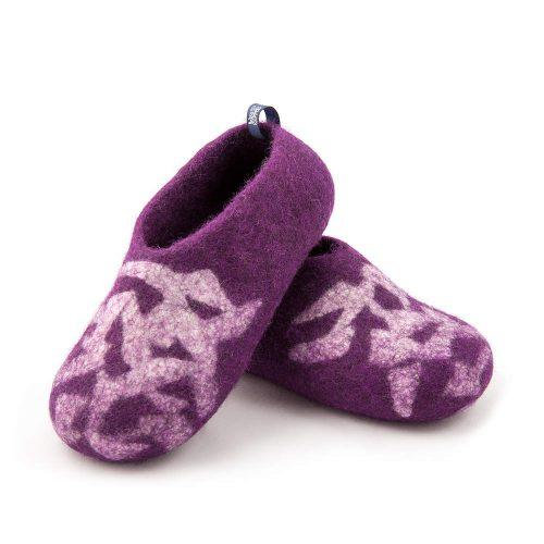 Slippers for kids BITS purple by Wooppers felted slippers c
