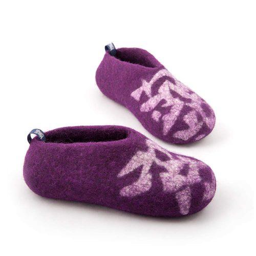 Slippers for kids BITS purple by Wooppers felted slippers e