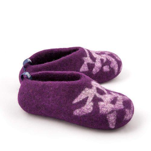 Slippers for kids BITS purple by Wooppers felted slippers f