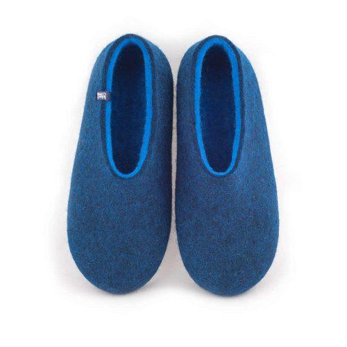 Wooppers blue slippers for men with sky blue interior a