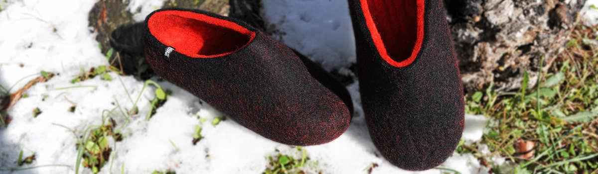 House slippers DUAL Black collection by Wooppers -