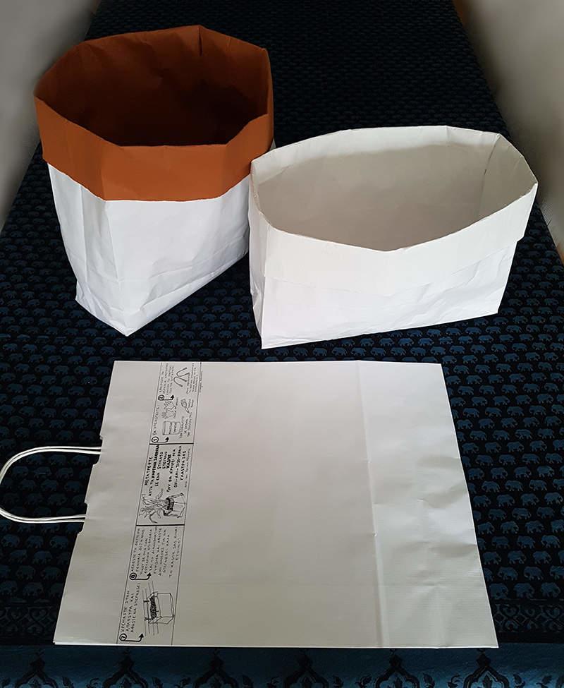 The Mall reuse a white paper bag-by Chryssa Adrakta