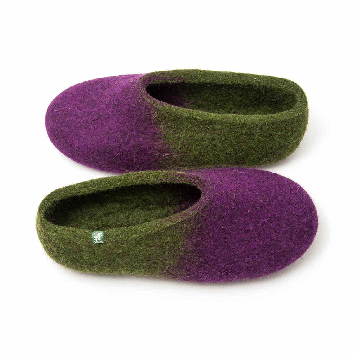jazz purple green - womens bedroom slippers