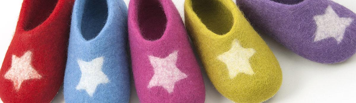 merino wool slippers for kids -STAR collection by Wooppers