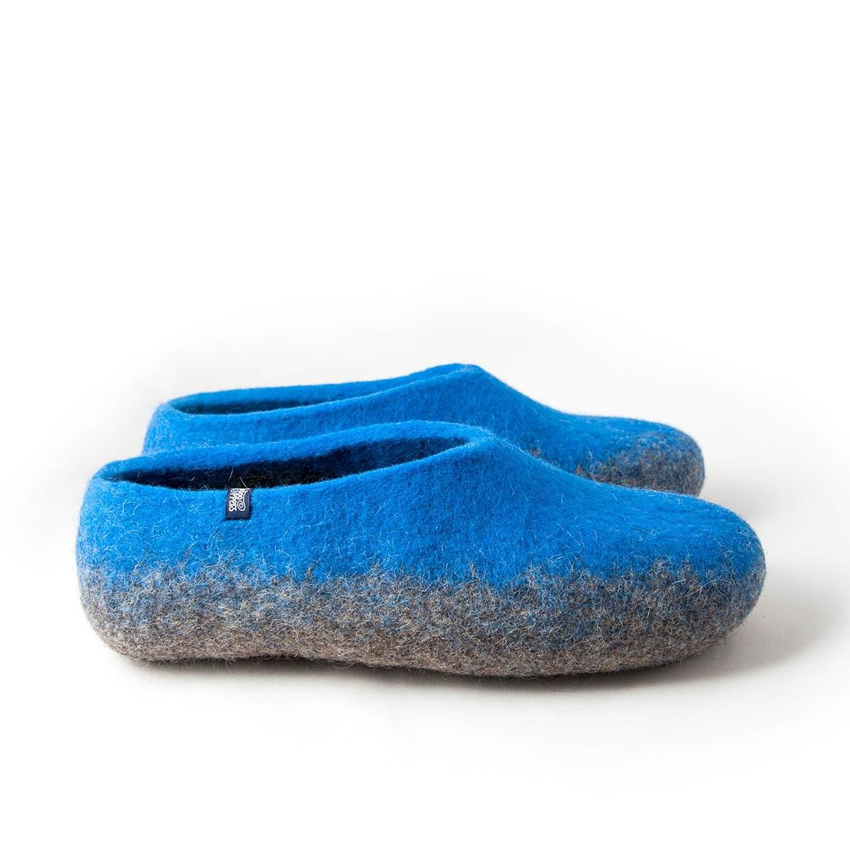6315f4d262fb5 Mens comfortable slippers TOPS blue and grey by Wooppers
