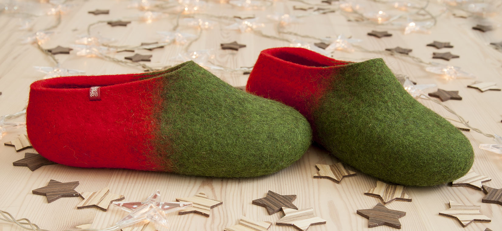 wooppers slippers JAZZ green red