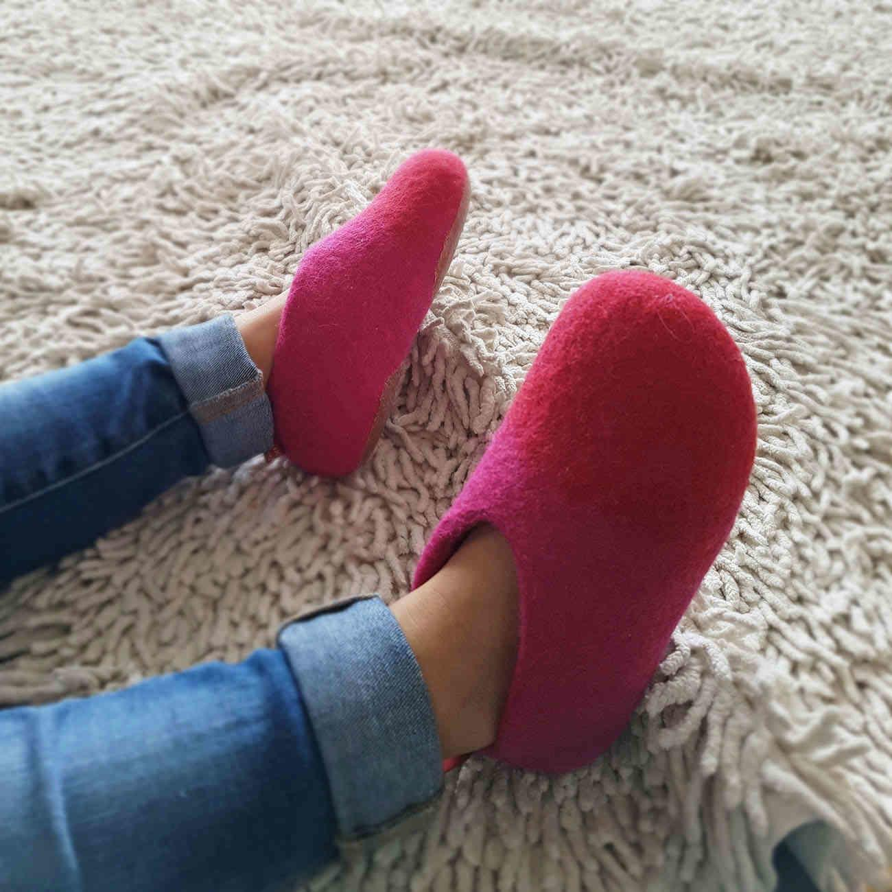 Girls house slippers in pink - DUO kids