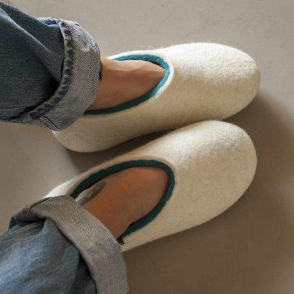 7b7e6d6aa9931 Wooppers – Felted Wool Slippers - felt house shoes - felt cat beds