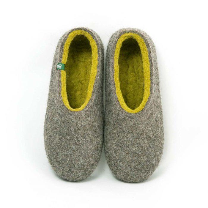 55055ccb1fc32 womens house shoes DUAL NATURAL gray yellow