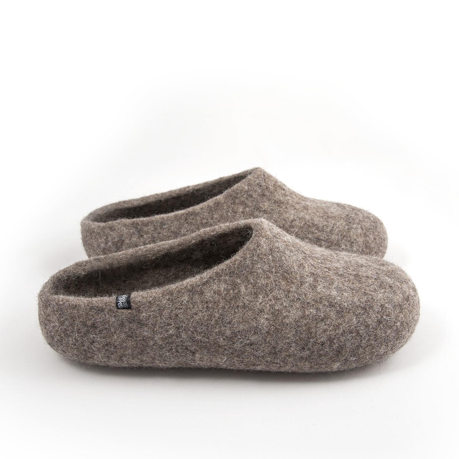 "Mules slippers mens ""SOLO"" grey"