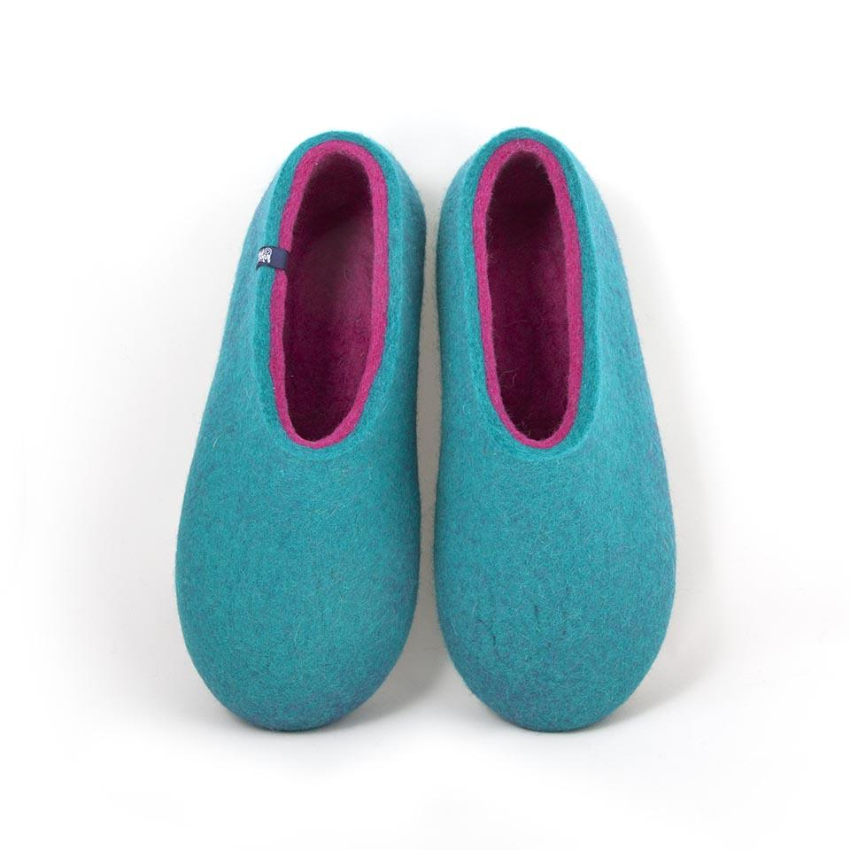 wooppers slippers DUAL turquoise and fuchsia