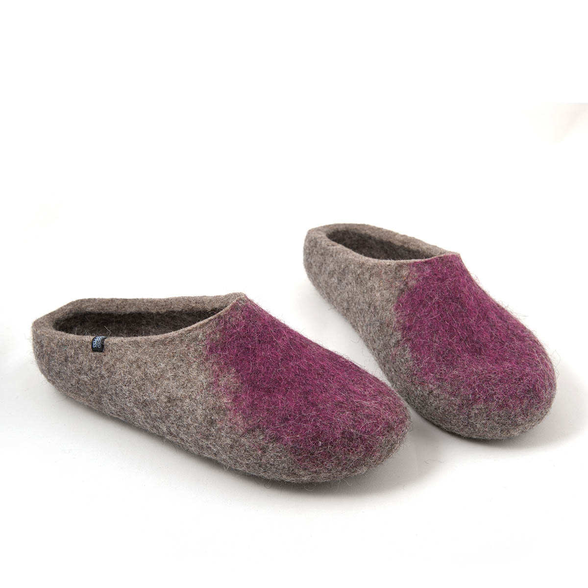 PURPLE MULES VERY SOFT 100/% LEATHER SLIPPERS