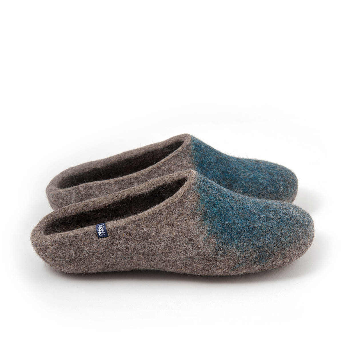 "Womens mules slippers ""SOLO"" blue teal"