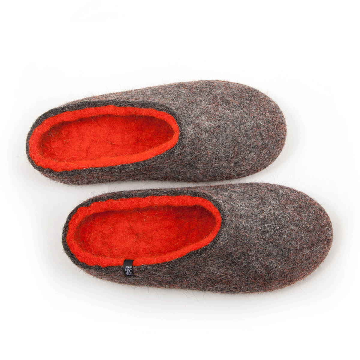 "House slippers ""COLORI"" grey – orange"