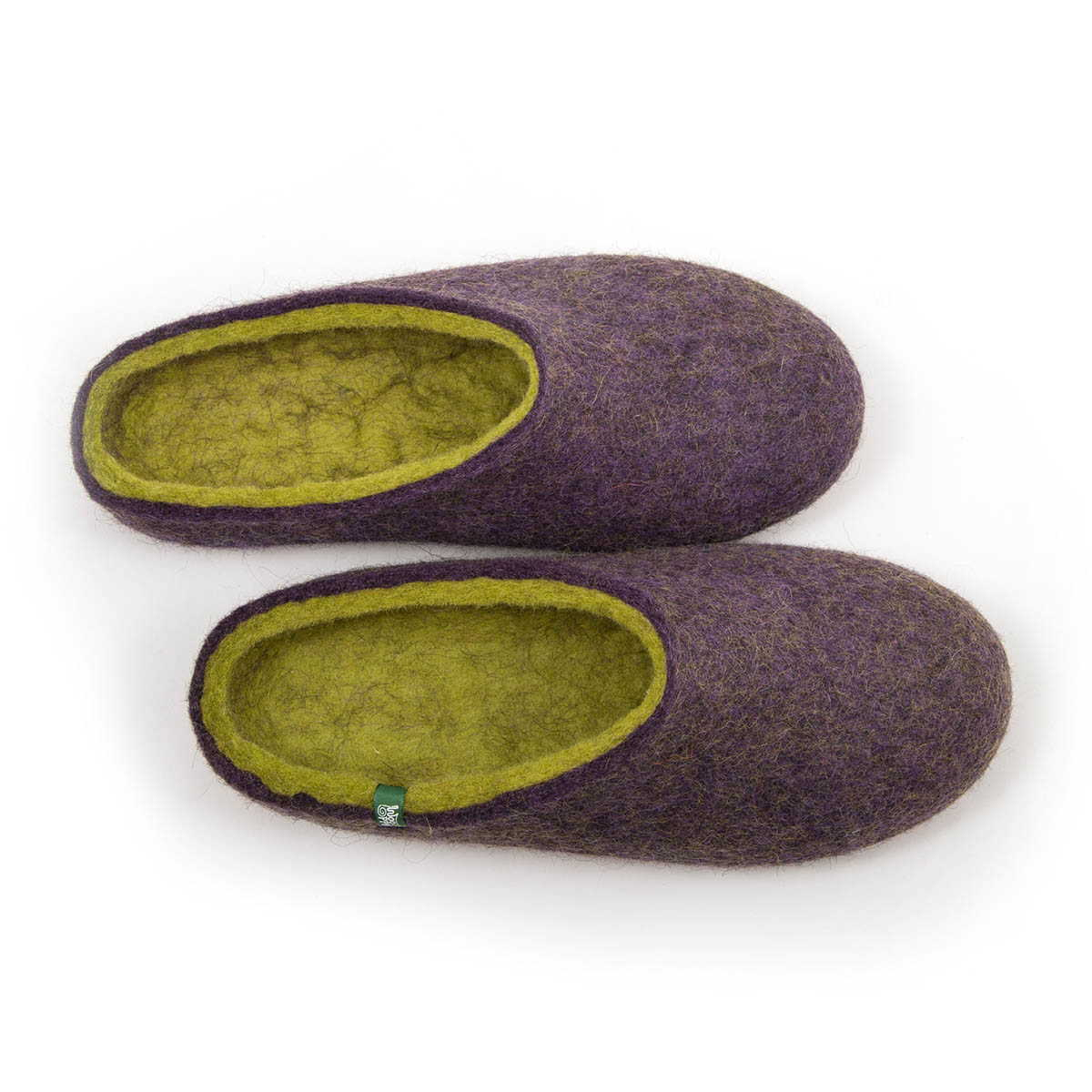 "Home slippers ""COLORI"" mauve – lime"