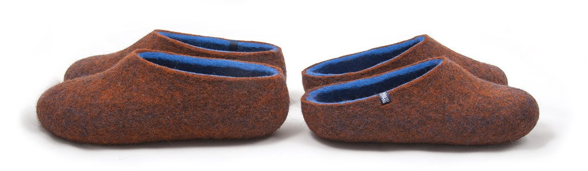 COLORI unisex slippers with high or low back by wooppers