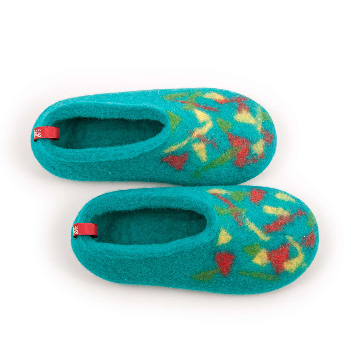 children s slippers CONFETTI BITS cyan