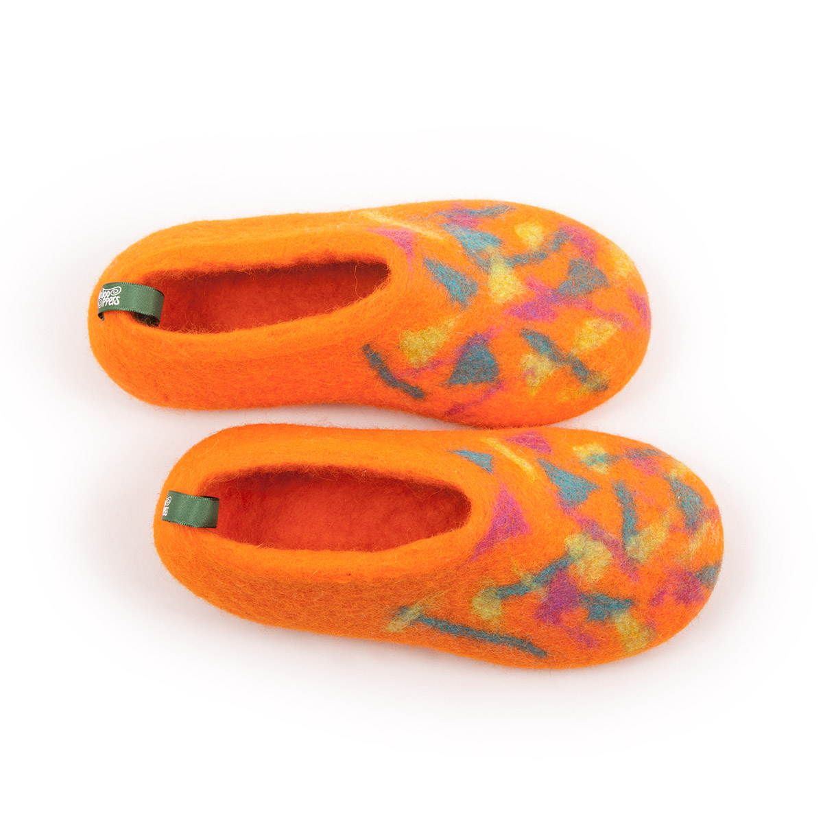 children s slippers CONFETTI BITS orange