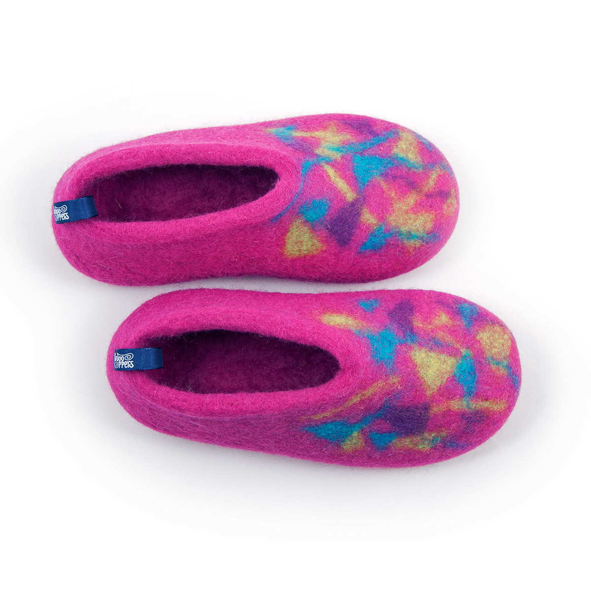 winter slippers for kids CONFETTI BITS fuchsia pink