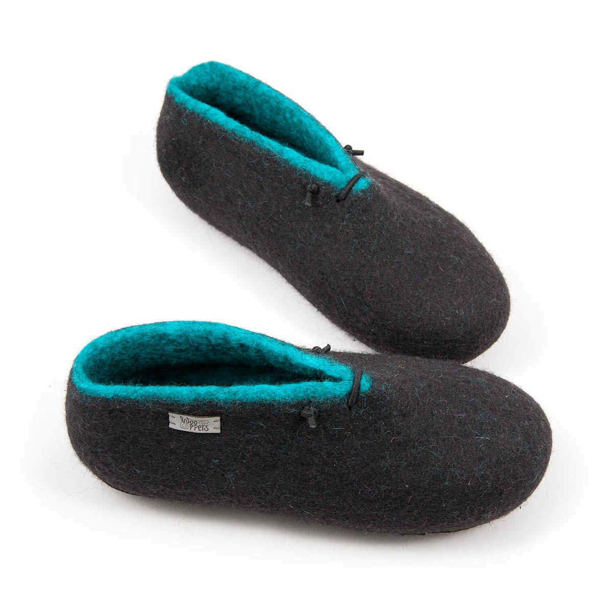 Black Slipper boots